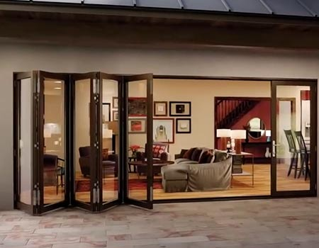 Houston folding glass walls folding glass wall company for Collapsible glass wall